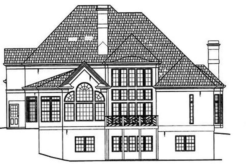 European Exterior - Rear Elevation Plan #119-129 - Houseplans.com
