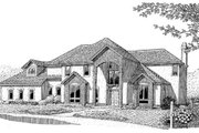 European Style House Plan - 3 Beds 2.5 Baths 3008 Sq/Ft Plan #11-208 Exterior - Front Elevation