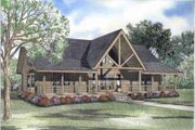 Log Style House Plan - 2 Beds 2 Baths 2301 Sq/Ft Plan #17-502 Exterior - Front Elevation