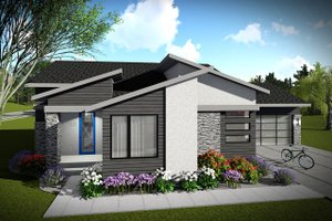 Ranch Exterior - Front Elevation Plan #70-1452