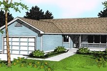 Home Plan - Traditional Exterior - Front Elevation Plan #100-101