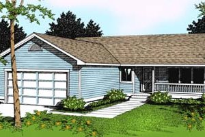Home Plan Design - Traditional Exterior - Front Elevation Plan #100-101