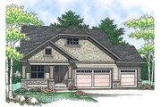 Craftsman Style House Plan - 2 Beds 2 Baths 1393 Sq/Ft Plan #70-899 Exterior - Front Elevation
