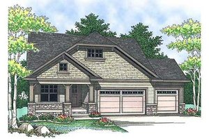 Craftsman Exterior - Front Elevation Plan #70-899