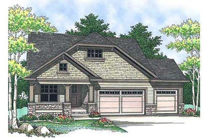 House Plan Design - Craftsman Exterior - Front Elevation Plan #70-899