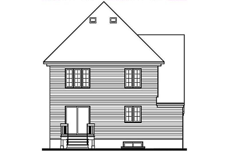 European Exterior - Rear Elevation Plan #23-2132 - Houseplans.com