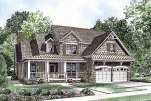 Country Exterior - Front Elevation Plan #17-634