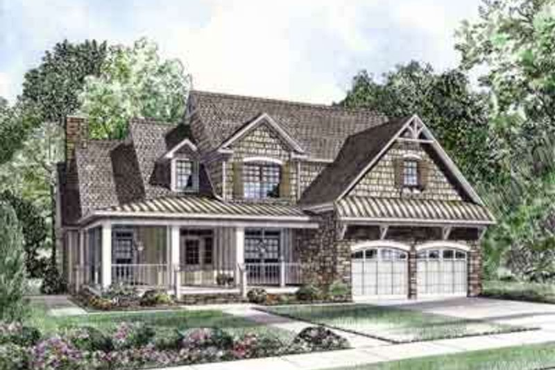 House Design - Country Exterior - Front Elevation Plan #17-634