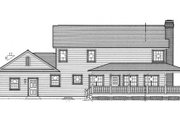 Country Style House Plan - 4 Beds 3 Baths 2647 Sq/Ft Plan #312-576 Exterior - Rear Elevation