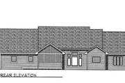 Traditional Style House Plan - 3 Beds 2.5 Baths 2224 Sq/Ft Plan #70-340 Exterior - Rear Elevation