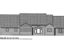Dream House Plan - Traditional Exterior - Rear Elevation Plan #70-340