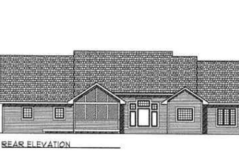 Traditional Exterior - Rear Elevation Plan #70-340 - Houseplans.com