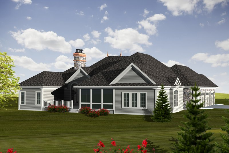 Ranch Exterior - Rear Elevation Plan #70-1126 - Houseplans.com