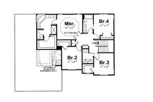 Traditional Floor Plan - Upper Floor Plan Plan #20-2085