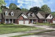 Traditional Style House Plan - 2 Beds 2 Baths 3976 Sq/Ft Plan #17-550 Exterior - Front Elevation