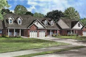 Traditional Exterior - Front Elevation Plan #17-550