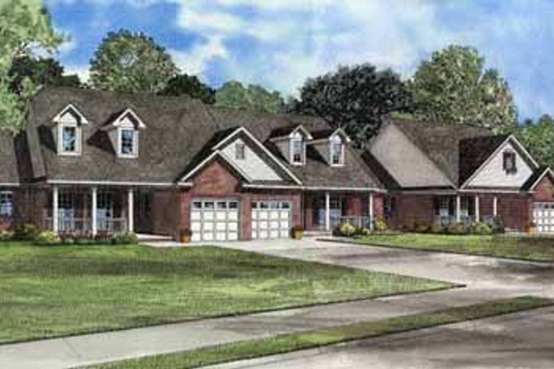 Traditional Style House Plan - 2 Beds 2 Baths 3976 Sq/Ft Plan #17-550