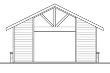 Architectural House Design - Craftsman Exterior - Rear Elevation Plan #124-1226