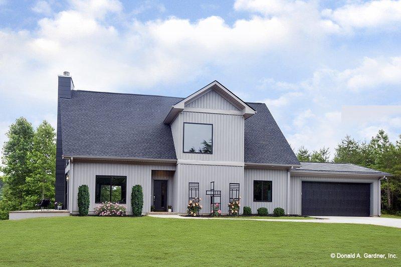 House Plan Design - Contemporary Exterior - Front Elevation Plan #929-85