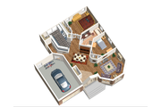 Classical Style House Plan - 2 Beds 1 Baths 1063 Sq/Ft Plan #25-4821 Floor Plan - Main Floor Plan