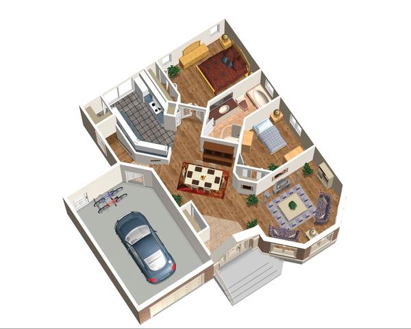 Classical Floor Plan - Main Floor Plan Plan #25-4821