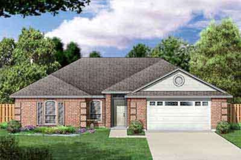 Ranch Exterior - Front Elevation Plan #84-223 - Houseplans.com