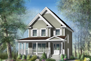 Country Style House Plan - 3 Beds 1 Baths 1396 Sq/Ft Plan #25-4338