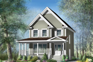 Country Exterior - Front Elevation Plan #25-4338