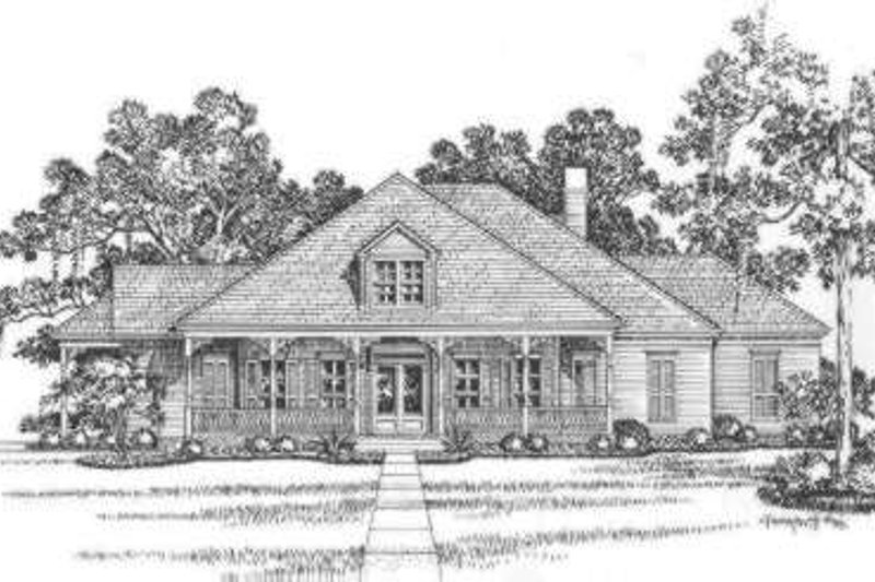 Southern Exterior - Front Elevation Plan #325-240 - Houseplans.com