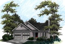 Dream House Plan - Traditional Exterior - Front Elevation Plan #56-135