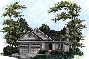 Architectural House Design - Traditional Exterior - Front Elevation Plan #56-135