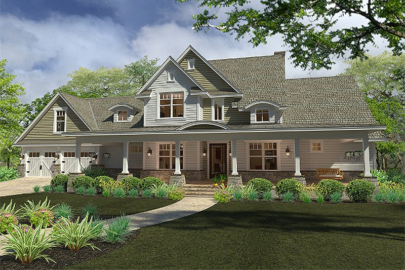 Architectural House Design - Country style home, elevation