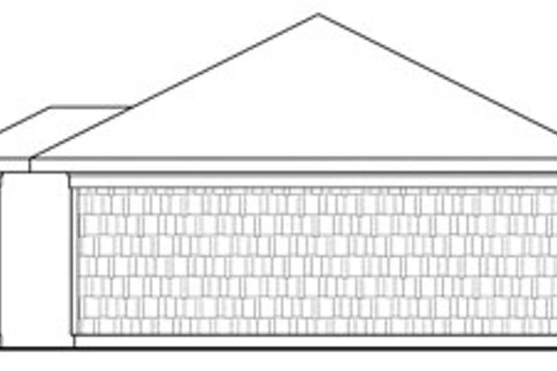 Craftsman Exterior - Rear Elevation Plan #124-634 - Houseplans.com
