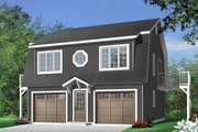 Country Style House Plan - 2 Beds 1.5 Baths 992 Sq/Ft Plan #23-441 Exterior - Front Elevation