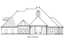 Home Plan - European Exterior - Rear Elevation Plan #17-2381