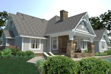 House Plan Design - Cottage Exterior - Rear Elevation Plan #120-252