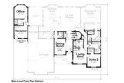 European Style House Plan - 4 Beds 4 Baths 3015 Sq/Ft Plan #20-2361