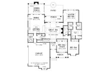 Craftsman Floor Plan - Main Floor Plan Plan #929-6