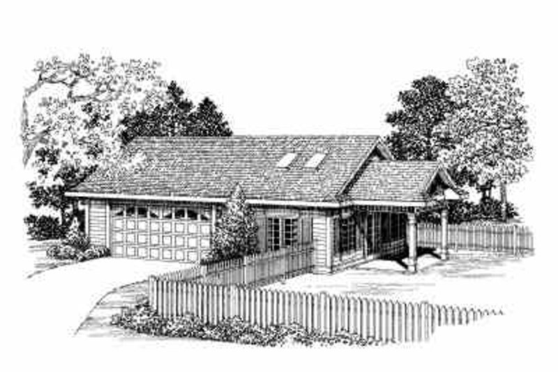 Traditional Exterior - Front Elevation Plan #72-272 - Houseplans.com