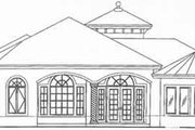 Mediterranean Style House Plan - 3 Beds 3.5 Baths 2667 Sq/Ft Plan #115-103 Exterior - Rear Elevation