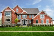 Craftsman Style House Plan - 4 Beds 6.5 Baths 4491 Sq/Ft Plan #928-321 Exterior - Front Elevation