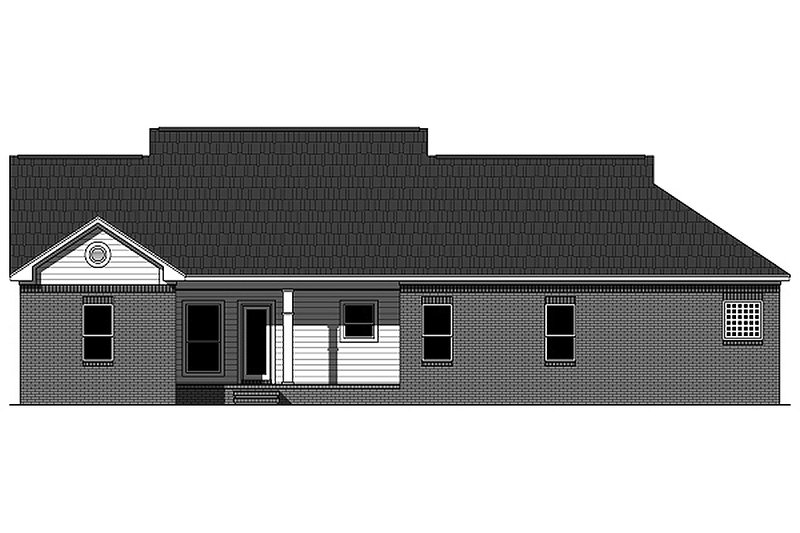 Traditional Exterior - Rear Elevation Plan #21-343 - Houseplans.com