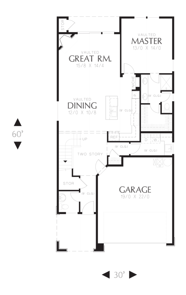 Cottage Floor Plan - Main Floor Plan Plan #48-575
