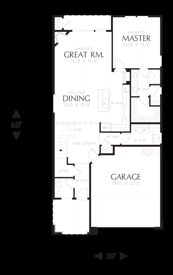 Home Plan - Cottage Floor Plan - Main Floor Plan #48-575