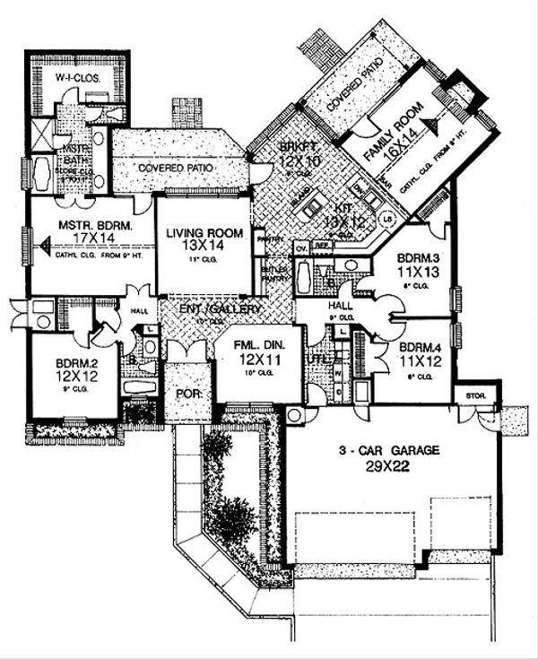 European Floor Plan - Main Floor Plan #310-728