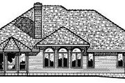 European Style House Plan - 3 Beds 2.5 Baths 2187 Sq/Ft Plan #20-751 Exterior - Rear Elevation