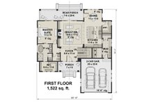 Farmhouse Floor Plan - Main Floor Plan Plan #51-1147