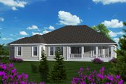 Ranch Style House Plan - 2 Beds 2.5 Baths 2187 Sq/Ft Plan #70-1136 Exterior - Rear Elevation