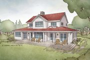 Farmhouse Style House Plan - 4 Beds 3.5 Baths 2740 Sq/Ft Plan #928-306 Exterior - Rear Elevation