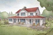 Farmhouse Style House Plan - 4 Beds 3.5 Baths 2740 Sq/Ft Plan #928-306 Exterior - Rear Elevation